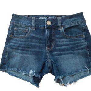 3/$20 American Eagle dark wash distressed shorts